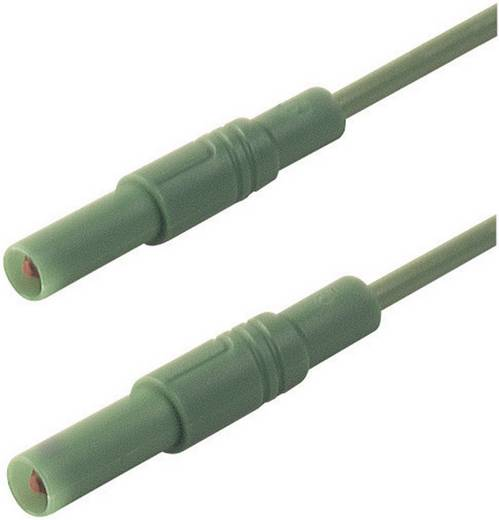 Mérőzsinór, mérővezeték 4 mm-es banándugóval, 1 mm² Szilikon 2 m zöld SKS Hirschmann MLS SIL GG 200/1