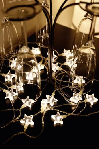 LED-es beltéri csillag fényfüzér, hálózati, 20 LED, melegfehér, 1070 cm, Polarlite 679295