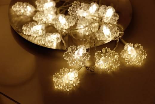 Beltéri motívumos, LED-es fényfüzér, 16 melegfehér LED, hópehely, 3260 cm, Polarlite