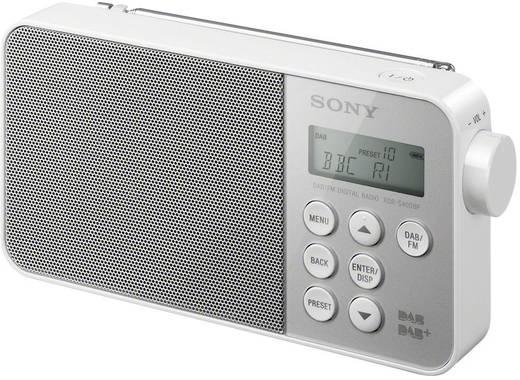 DAB rádió, fehér, DAB +, FM, Sony XDR-S40