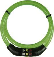 Kerékpár kábelzár szimbólumokkal, Security Plus Icon (CSL80grün) Security Plus