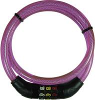 Kerékpár zár, rózsaszín, Security Plus (CSL80Pink) Security Plus