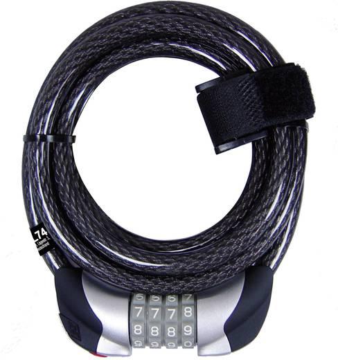 Kerékpár kábelzár, fekete, 180 cm, Security Plus ZL 74