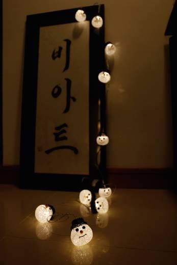 LED-es kültéri fényfüzér, hóember, 10 LED Melegfehér 1270 cm Polarlite