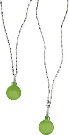 LED-es beltéri fényfüzér gömbökkel, zöld, 20 LED, 1070 cm, Polarlite 679995
