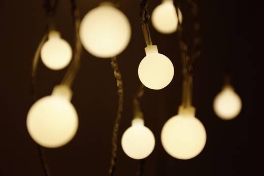 LED-es beltéri fényfüzér, melegfehér gömbökkel, 20 LED Borostyán 1070 cm Polarlite