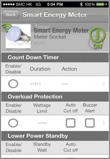 Okostelefonnal lekérdezhető fogyasztásmérős konnektor aljzat, Voltcraft SEM 3600 BT Smart Energy Meter