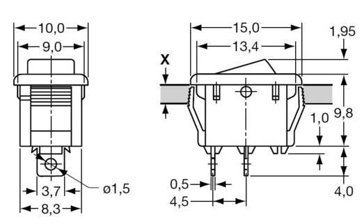 Mini billenőkapcsoló 0/I f/f 250 V/3 A