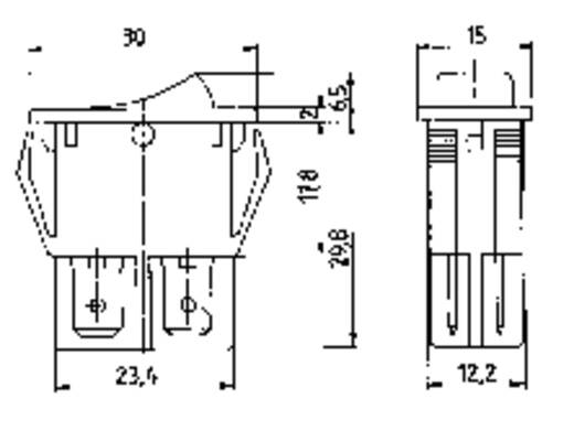 Marquardt billenőkapcsoló, 2 x be/ki, 250 V/AC 16 A, 1555.3108