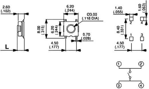 Nyomógomb 12 V/DC 50 mA, 1 x ki/(be), APEM PHAP3373