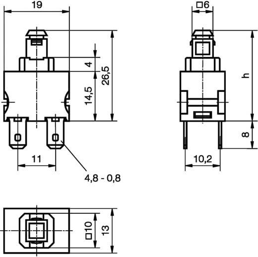 Nyomókapcsoló 250 V/AC 12 A, 2 x be/ki, IP40, Marquardt 1682.1101