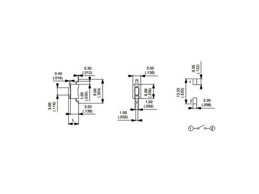 Nyomógomb 12 V/DC 50 mA, 1 x ki/(be), APEM PHAP3361