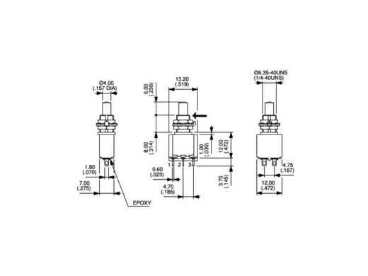 Nyomógomb 30 V/DC 100 mA, 1 x be/(be), APEM 18535CD