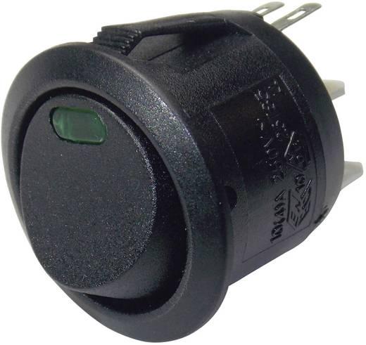 Billenőkapcsoló BE/KI 1 pólusú LED zöld