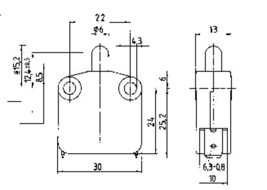 Marquardt zárt mikrókapcsoló, 16 A 400 V/AC, 1 x ki/(be), 1117.0101