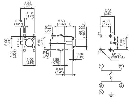Nyomógomb 12 V/DC 50 mA, 1 x ki/(be), APEM PHAP3302A