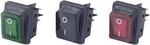 Billenőkapcsoló KI-BE 16A/250V zöld világító