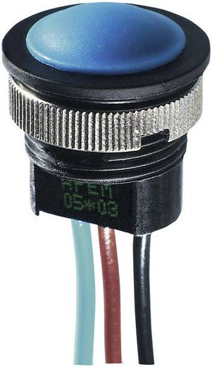 Nyomógomb 24 V/DC 2 A, 1 x ki/(be), IP67, APEM IAR3F1200