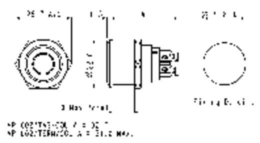 ESKA Bulgin vandálbiztos nyomógomb világítással, fehér, 24V/DC, 50mA, MPI002/TERM/WH