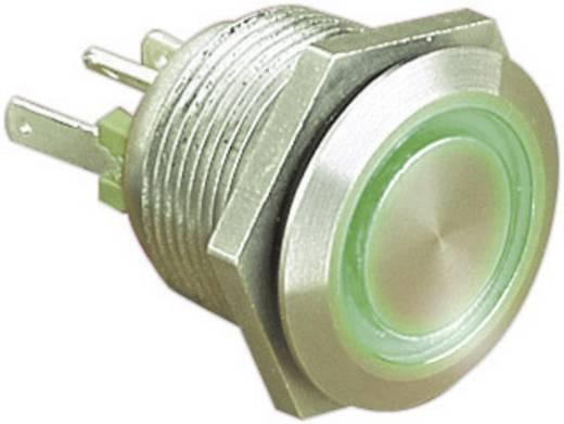 ESKA Bulgin vandálbiztos nyomógomb világítással, zöld, 24V/DC, 50mA, MPI002/28/GN