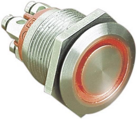 ESKA Bulgin vandálbiztos nyomógomb világítással, piros, 24V/DC, 50mA, MPI002/TERM/RD