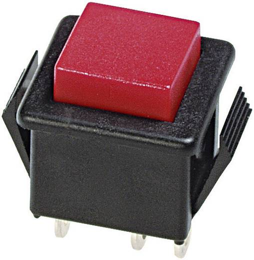 Nyomógomb 250 V/AC 3 A, 1 x be/(ki), APEM 1412N/8A-2