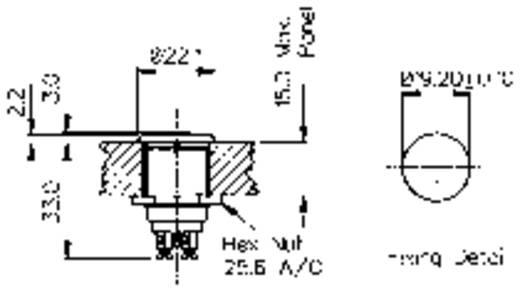 Vandálbiztos nyomógomb 1A/50V, 22 MM