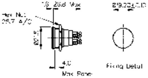 Vandálbiztos nyomógomb 1A/50V, 21,5 MM