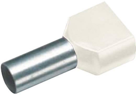 Érvéghüvely műanyag gallérral, DUO 2 x 10 mm² x 14 mm DE-színkód, elefántcsont Vogt Verbindungstechnik, 100 db