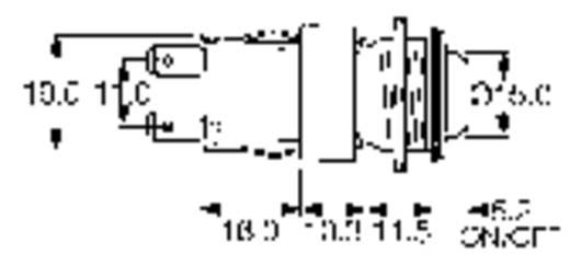 Arcolectric vandálbiztos nyomógomb, IP66 250 V/AC 16A, H8351RP
