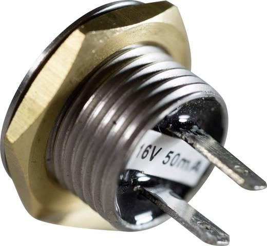 Rozsdamentes nyomógomb 16 mm