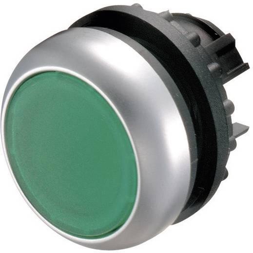 Világító nyomógomb, M22-DL-G FL. zöld fényes