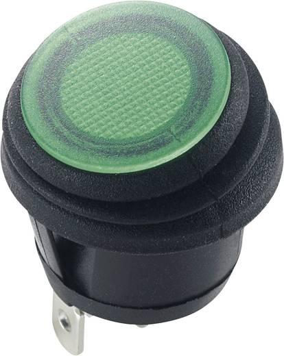 Billenőkapcsoló, 12 V/DC 20 A, 1 x ki/be, IP65, zöld, SCI R13-112B8W
