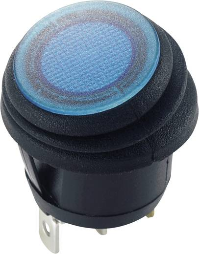 Billenőkapcsoló, 12 V/DC 20 A, 1 x ki/be, IP65, kék, SCI R13-112B8W