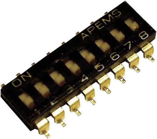 APEM SMD DIP kapcsoló, 2 pól., 2,54 mm raszter, IKL0203000