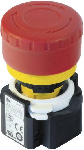 Vészkikapcsoló 16 mm, 250 V/AC 3 A, 1 záró/3 nyitó, Idec XA1E-LV313Q4R