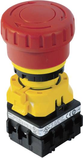 Vészkikapcsoló 22 mm, 250 V/AC 3 A, 2 nyitó, Idec XW1E-LV402Q4MFR