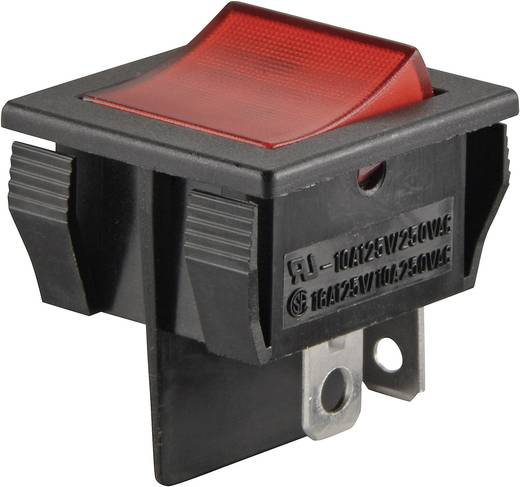 Billenőkapcsoló, R13-30B-01, piros