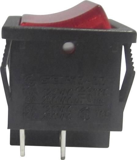 Billenőkapcsoló, R13-33B-02, piros