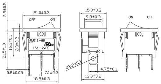 Billenőkapcsoló R13-66B-02 LED 12VDC
