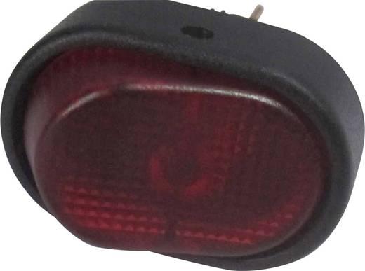 SCI autós billenőkapcsoló, 12V/DC, 30A, 1xbe/ki, piros, glimmlámpa, R13-133B-SQ RED