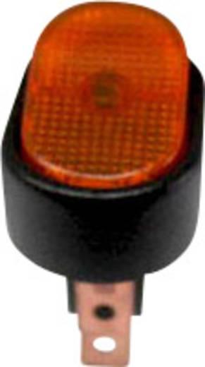 SCI autós billenőkapcsoló, 12V/DC, 30A, 1xbe/ki, sárga, glimmlámpa, R13-133B-SQ YELLOW