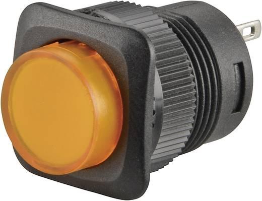 Nyomókapcsoló 250 V/AC 1,5 A, 1 x ki/be, sárga, SCI R13-508B-05YL