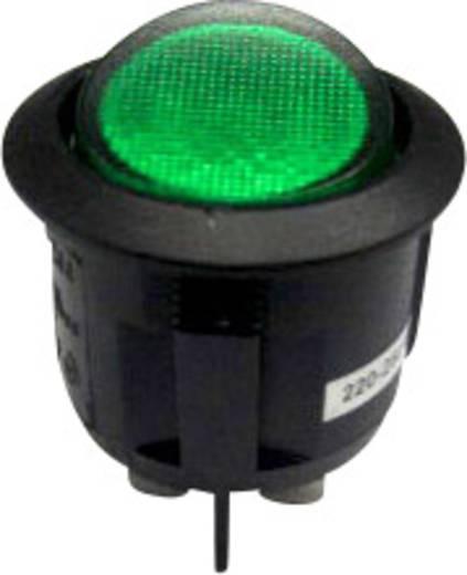 Billenőkapcsoló BE/KI 2 pólusú fekete/zöld