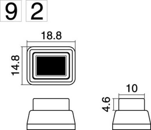Nyomókapcsoló 250 V/AC 1 A, 1 x ki/be, piros, SCI R13-92B-05RT