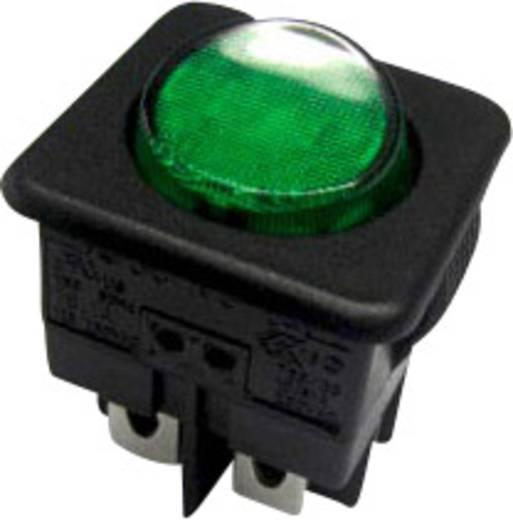 Billenőkapcsoló R13-104B-01 fekete/zöld zöld