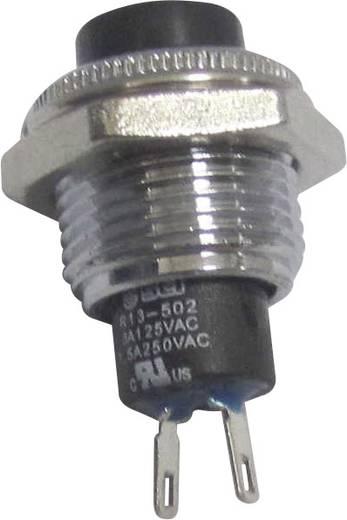 Nyomógomb 250 V/AC 1,5 A, 1 x ki/(be), fekete, SCI R13-502MA-05BK