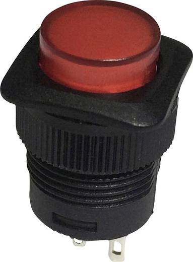 Nyomógomb 250 V/AC 1,5 A, 1 x ki/(be), piros, SCI R13-508A-05RT