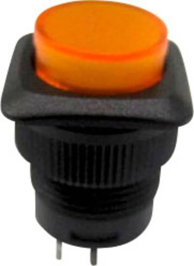 Nyomókapcsoló 250 V/AC 1,5 A, 1 x ki/be, sárga, SCI R13-508BL-05YL