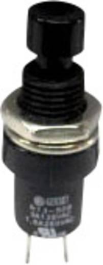 Nyomógomb 250 V/AC 1,5 A, 1 x be/(ki), fekete, SCI R13-509B-05BK